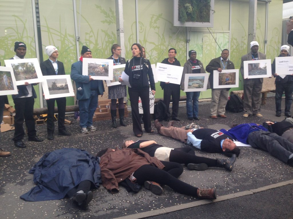 CSOs calling for climate justice at COP21, Paris